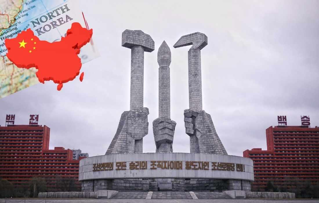 downtown pyong yang north korea